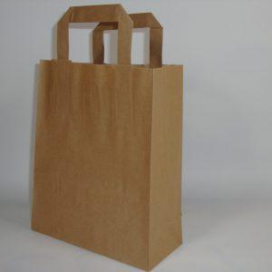 Papieren draagtassen, bruin natronkraft, 70 grams papier-180822